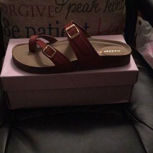 Cognac footbed sandal by Madden Girl..NWOT